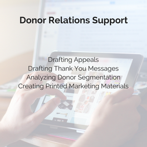 Donor Relations Support