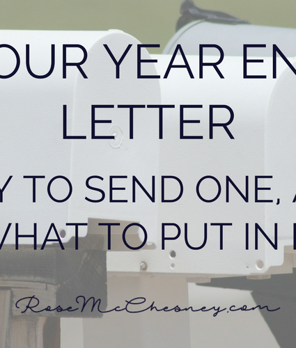 Your Year End Letter