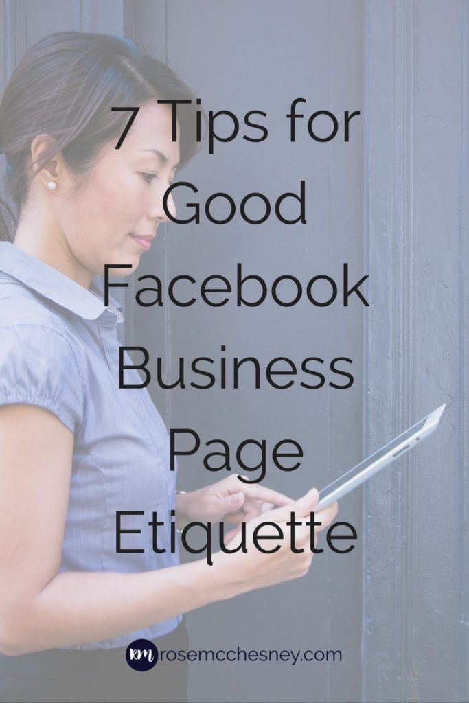 7 tips for good Facebook etiquette pin image