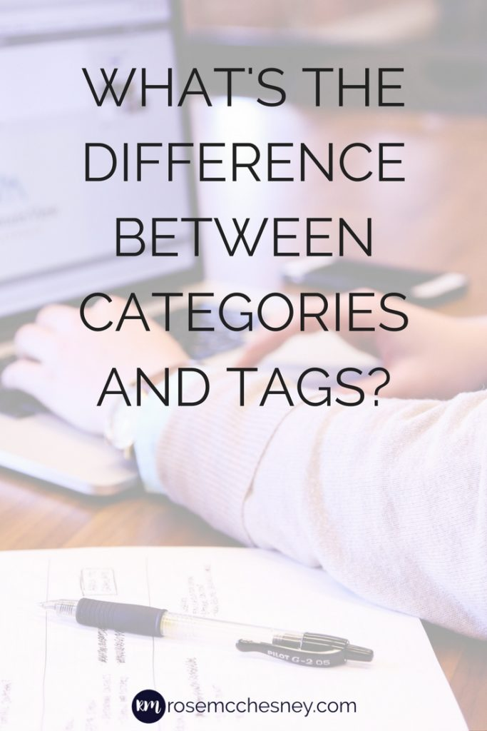 What's the difference between categories and tags?