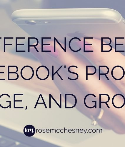 The Difference Between Facebook's Profile, Page, and Group