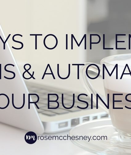 8 Ways to Implement Systems & Automation in Your Business